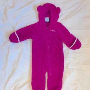 Columbia baby bunting Pink size 6-12m snowsuit